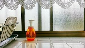結露。窓ガラス、掃除