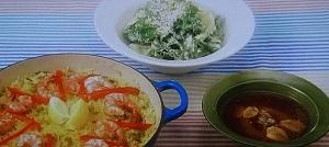【男子ごはん】鶏と魚介のパエリアのレシピ!栗原心平&国分太一