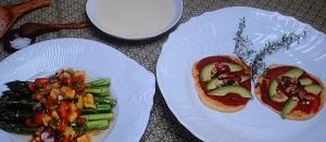 【メレンゲの気持ち】RIKACOのレシピ!ビーツのトルティーヤ(ピタパン)&コーンの冷製スープ