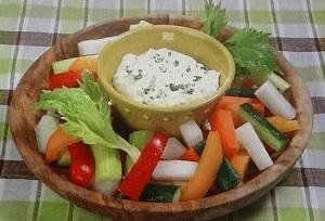 野菜スティック&クリームチーズディップのレシピ