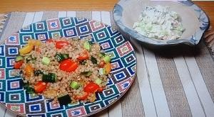 ピカ子のレシピ、もち麦のサラダ