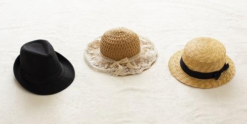 帽子、女性