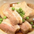 ゆで豚で豚バラ肉の煮つけ
