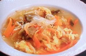 森公美子さんの中華はるさめHOTスープのレシピ!3分でできる:バゲット