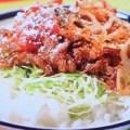 牛肉の炒め物タコライス風