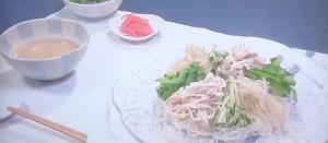 きょうの料理:栗原はるみさんのそうめんの冷やし中華のレシピ!特製ごまだれも