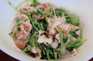 上沼恵美子のおしゃべりクッキング:豆苗と豚肉の梅和えのレシピ!簡単スピードメニュー