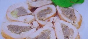 鶏肉のキノコ包み