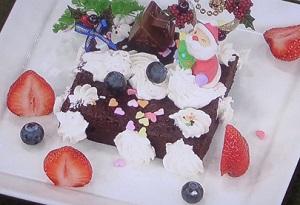 クリスマスチョコケーキ