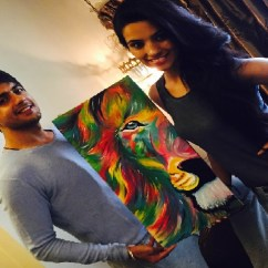Sofa Covers Designs India How Much Fabric Do I Need To Make A Cover Gr8! Tv Magazine - Sherkhan Gets Painting Of Sher By Wife!