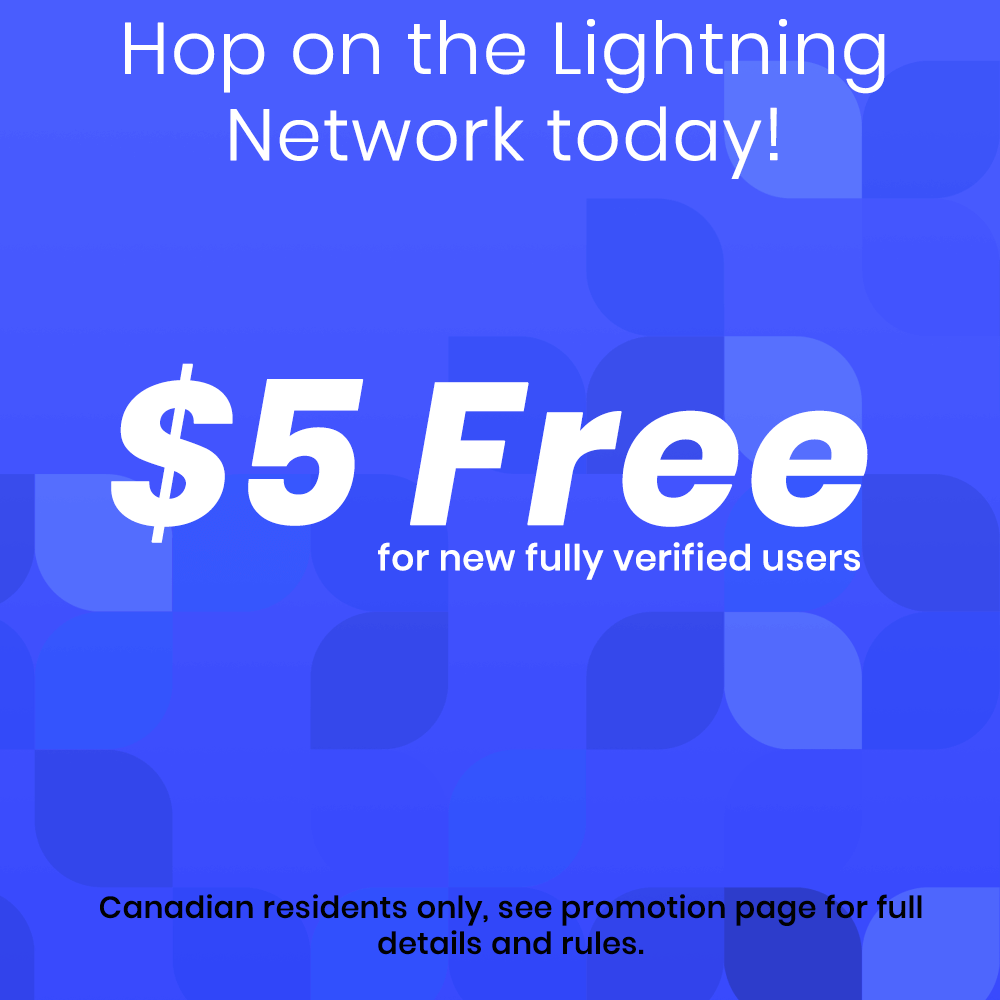 Lightning Network Exchange in Canada Promotion