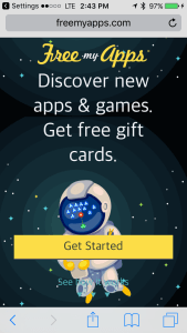 Gets Started with FreeMyApps