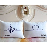 Buy Heartbeat to Heart Personalized Name Couple Pillows ...