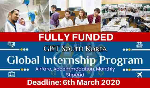 Global Internships Program South Korea 2020