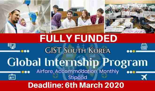 Global Internships Program South Korea 2020