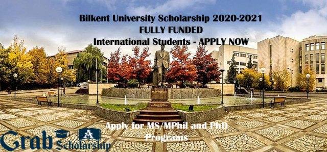 Bilkent University Scholarship 2020-2021