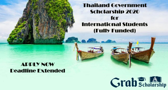Thailand Government Scholarship 2020