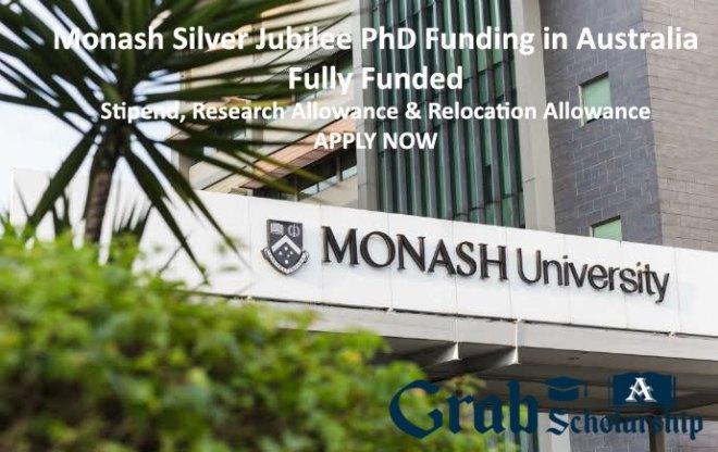 Monash Silver Jubilee PhD Funding