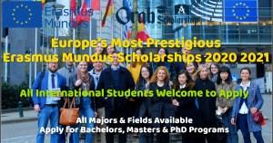 Erasmus Mundus Scholarship 2020 2021