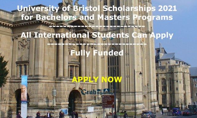 University of Bristol Scholarships 2021