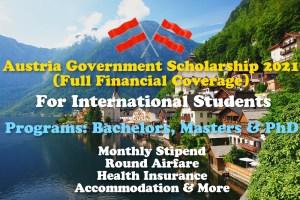 Austria Government Scholarship 2021