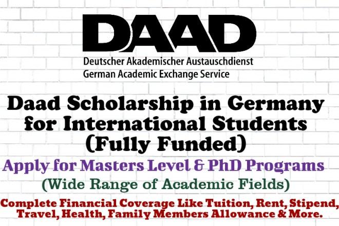Daad Scholarship in Germany