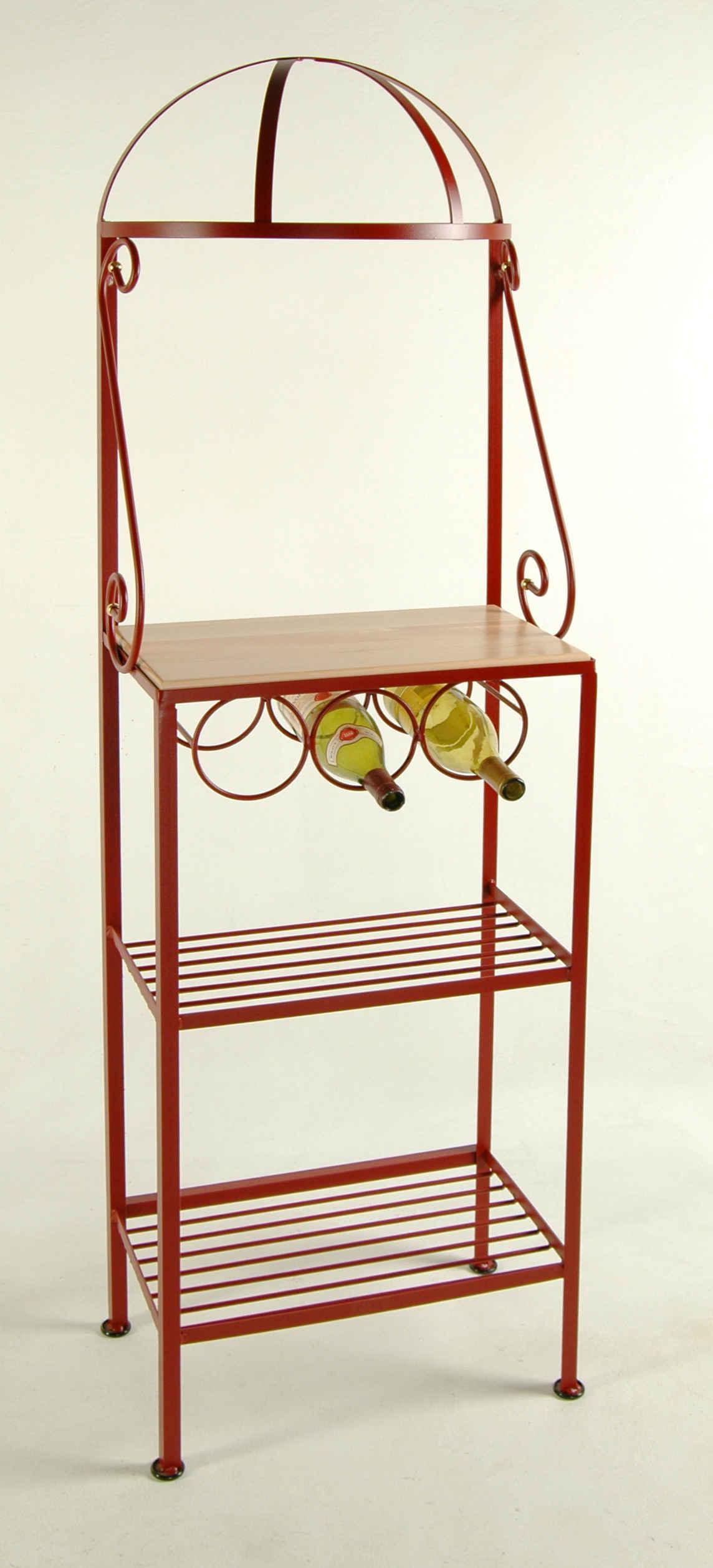 bakers rack with wine rack