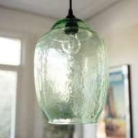 Hanging Green Glass Pendant Light - Grace & Glory Home