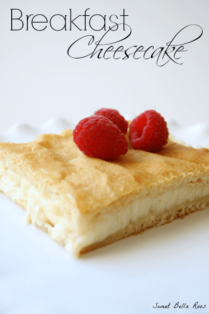 Breakfast Cheesecake- move over muffins, this stuff is amazing! #breakfast #recipe