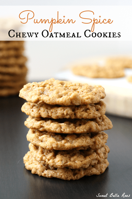 Pumpkin Spice Chewy Oatmeal Cookies #recipe