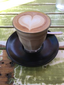 latte with heart