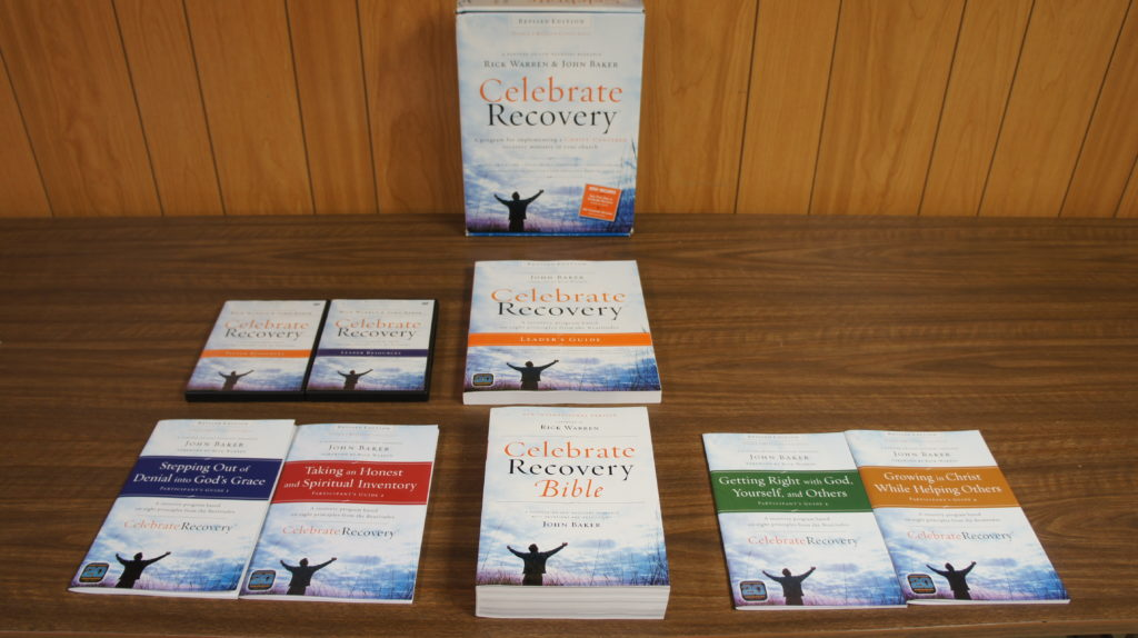 Celebrate Recovery Books Laid Out