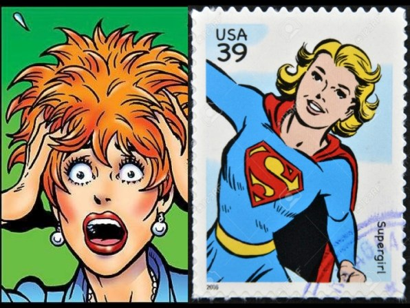 Frazzled Woman vs. SuperGirl