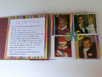 scrapbook for toddler years