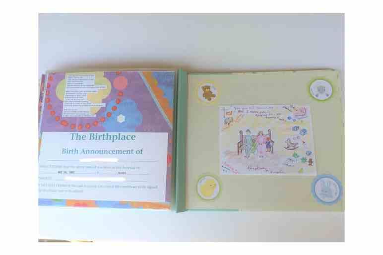 scrapbook baby book