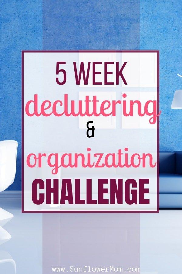5 Weeks Decluttering and Organization Challenge