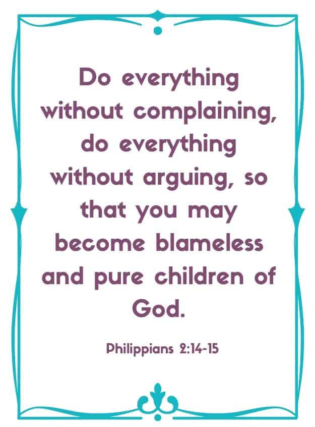 """Bible Memory Verse """"D"""" Philippians 2:14-15"""
