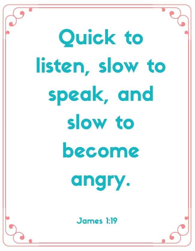 "Bible Memory Verses: ""Q"" James 1:19"