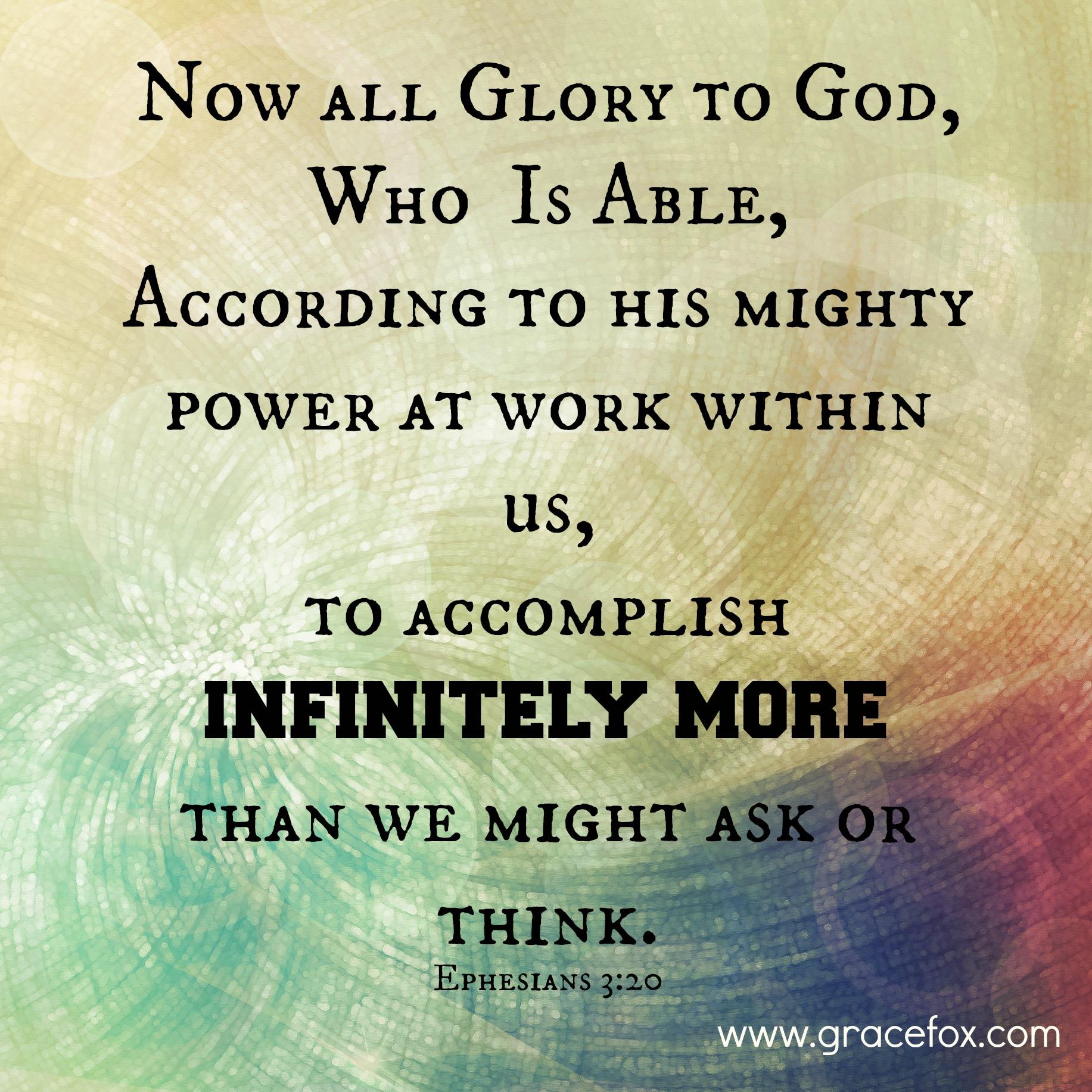 An Amazing Example Of God S Exceeding Abundantly Aboves