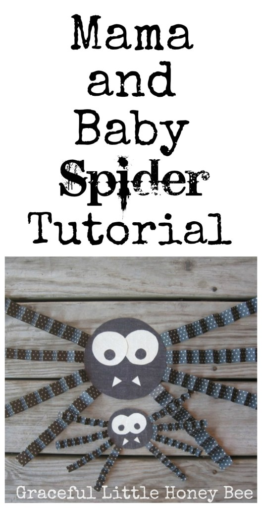 Learn how to make this adorable mama and baby spider set with step by step pictures.