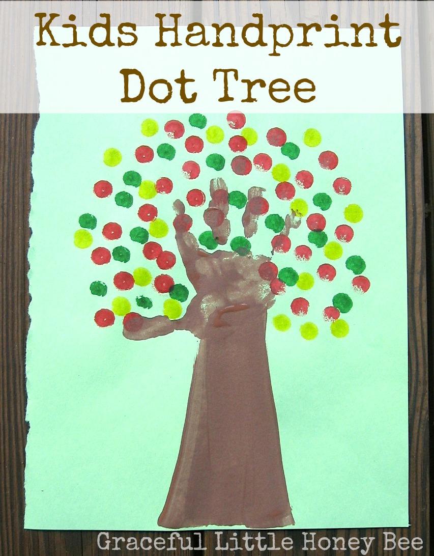 Kids Handprint Tree   Graceful Little Honey Bee