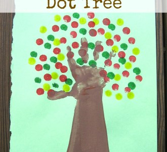Kids Handprint Dot Tree on gracefullittlehoneybee.com