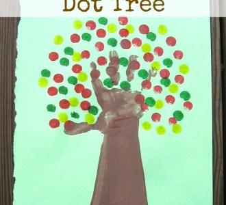 Kids Handprint Dot Tree on gracefullittlehoneybee.com