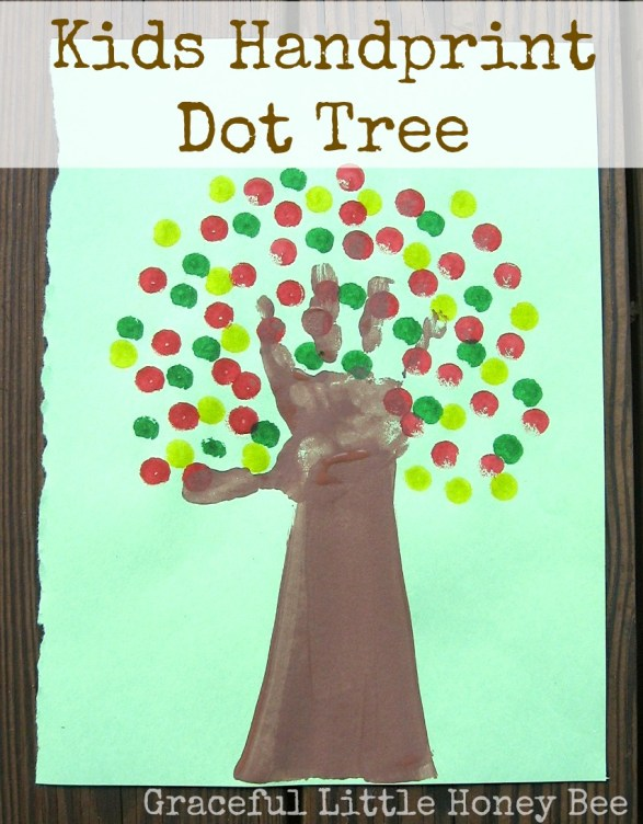 Kids will love getting their hands dirty while making this handprint tree!