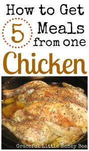 See how I got five meals from one chicken!