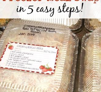 How to Organize a Freezer Meal Swap in 5 Easy Steps on gracefullittlehoneybee.com