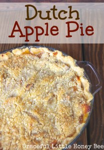 Dutch Apple Pie on gracefullittlehoneybee.com