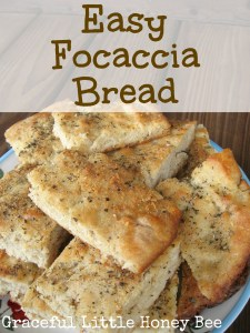 Easy Focaccia Bread on gracefullittlehoneybee.com