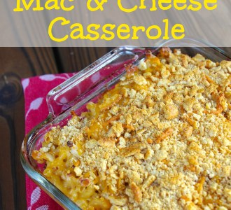 Homestyle Mac & Cheese Casserole on gracefullittlehoneybee.com