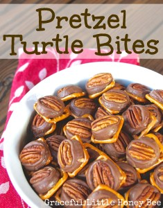 These Pretzel Turtle Bites are the perfect easy Holiday treat!